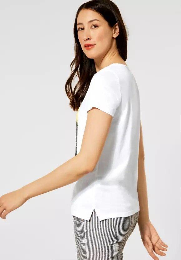 T-shirt med print - White