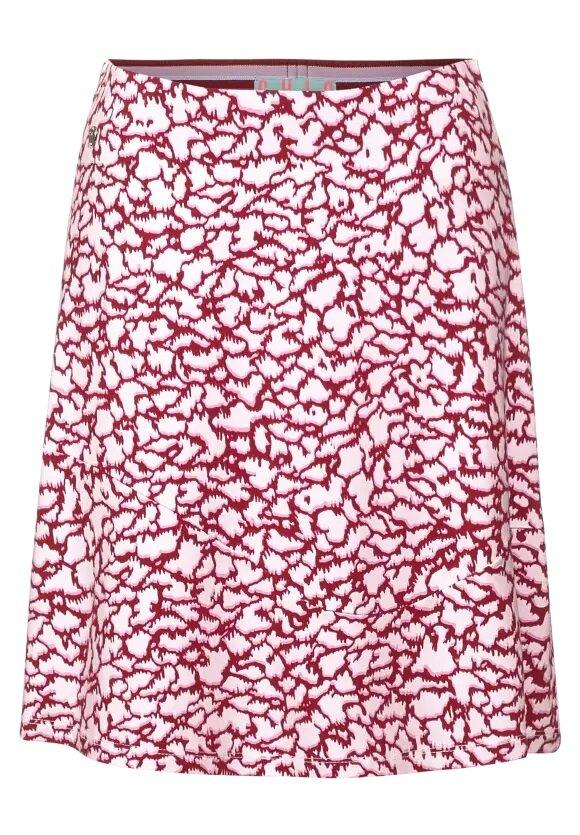 A-linjeformad Kjol Mönstrad - Gentle Red