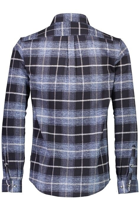 Rutig flanellskjorta - Dark Blue