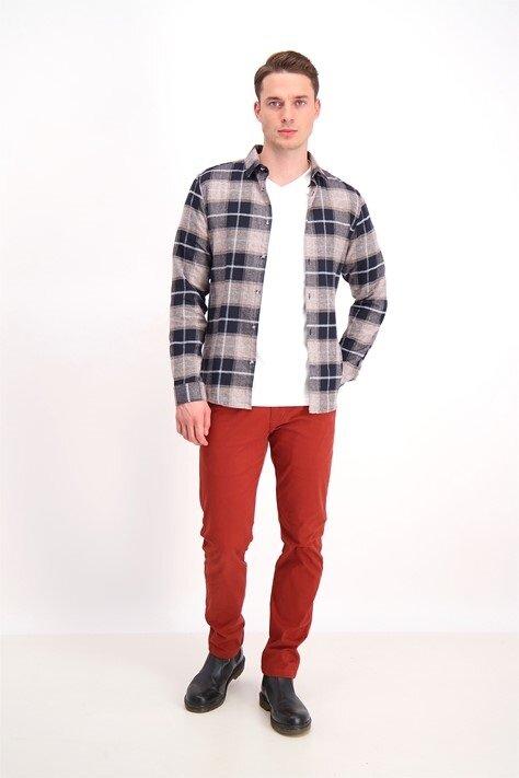 Rutig flanellskjorta - Brown