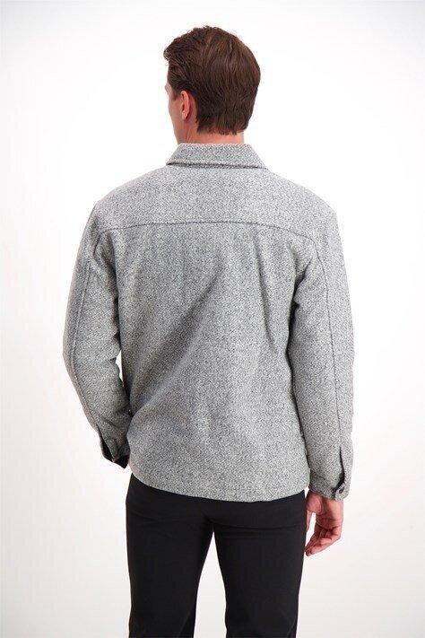 Fodrad Skjortjacka - Grey Mel