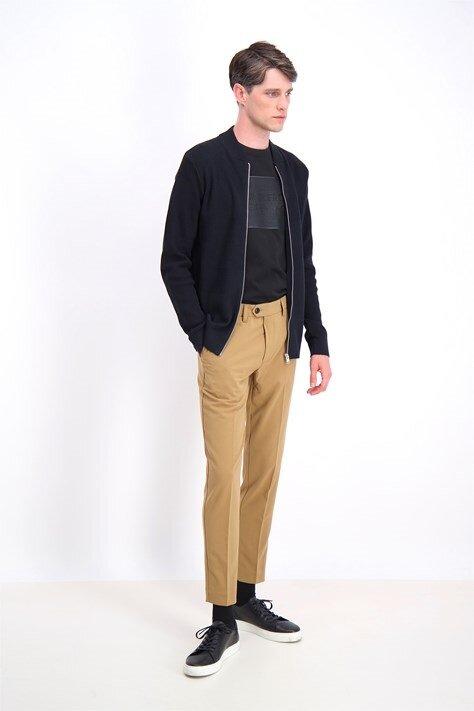 Zip cardigan - Struktur - Black