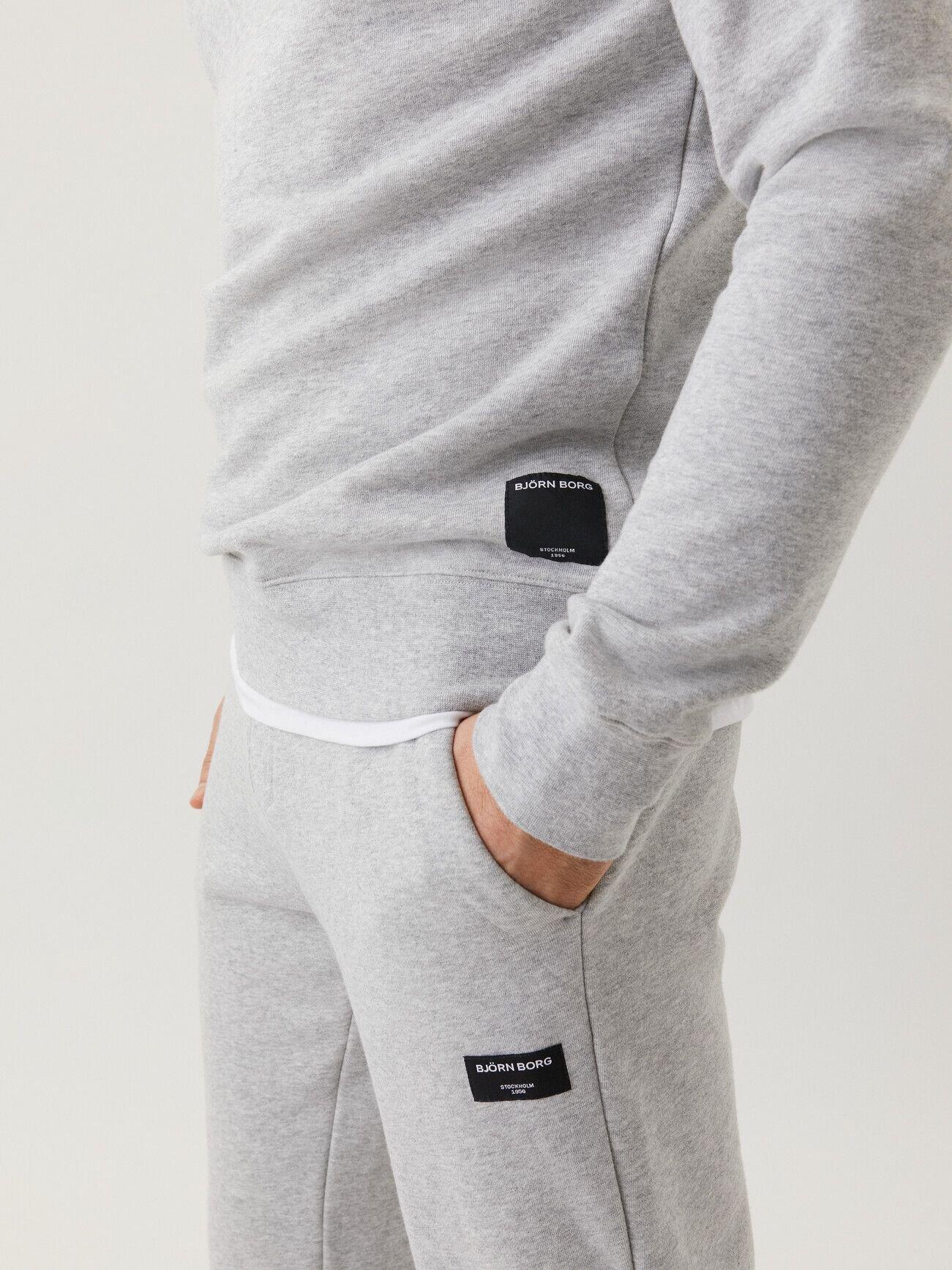 Centre Crew Sweatshirt - Light Grey Melange