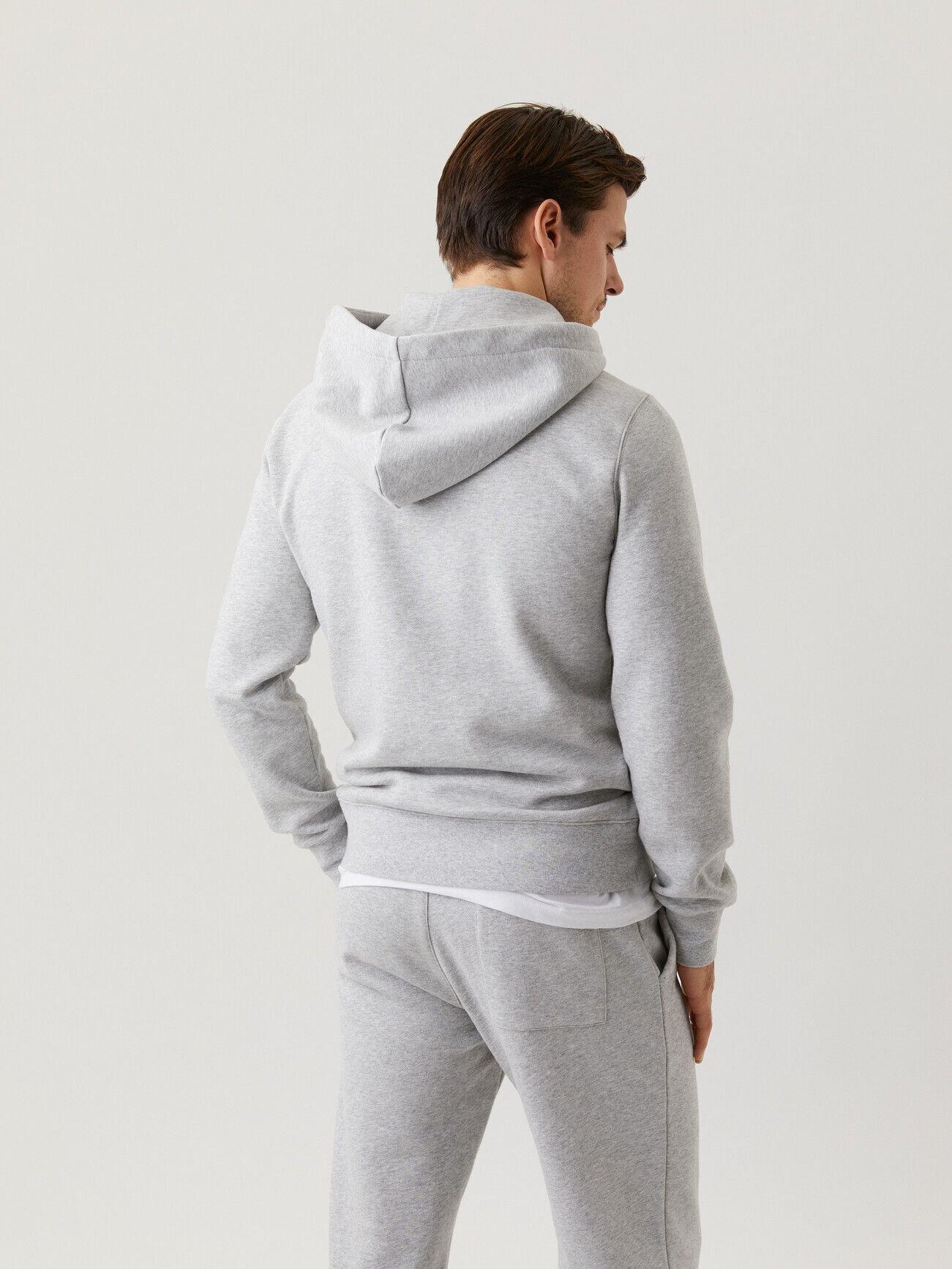 Centre Hoodie - Light Grey Melange