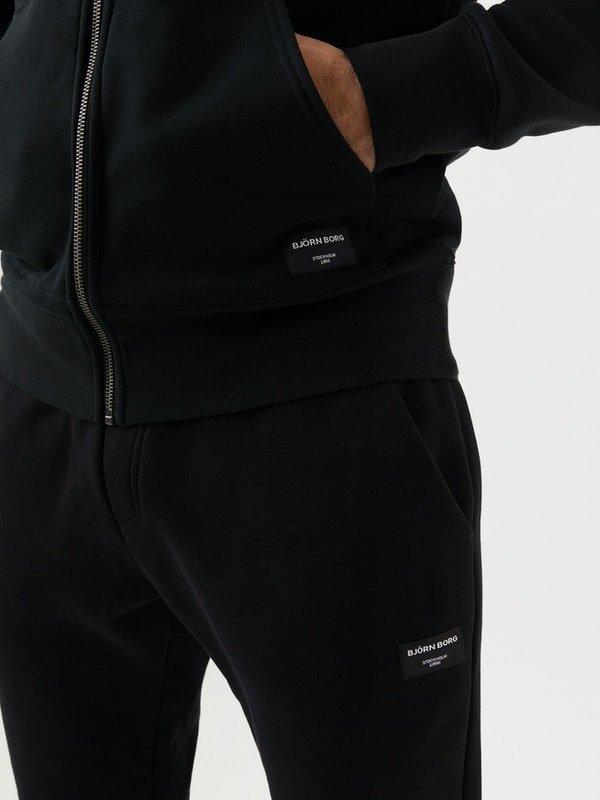 Centre Zip Hoodie - Black Beauty