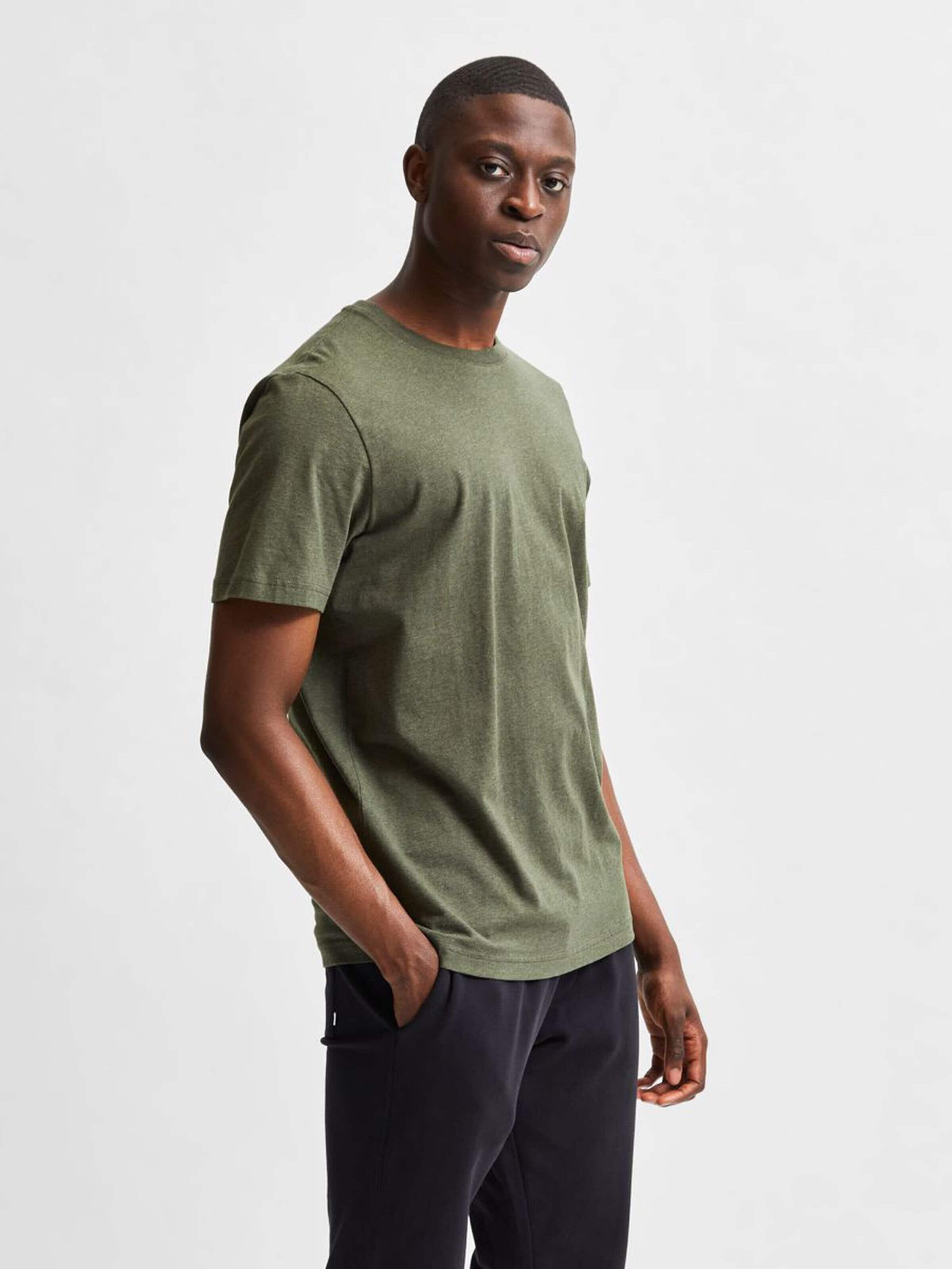 Slhnorman 180 T-Shirt - Forest Night Mel