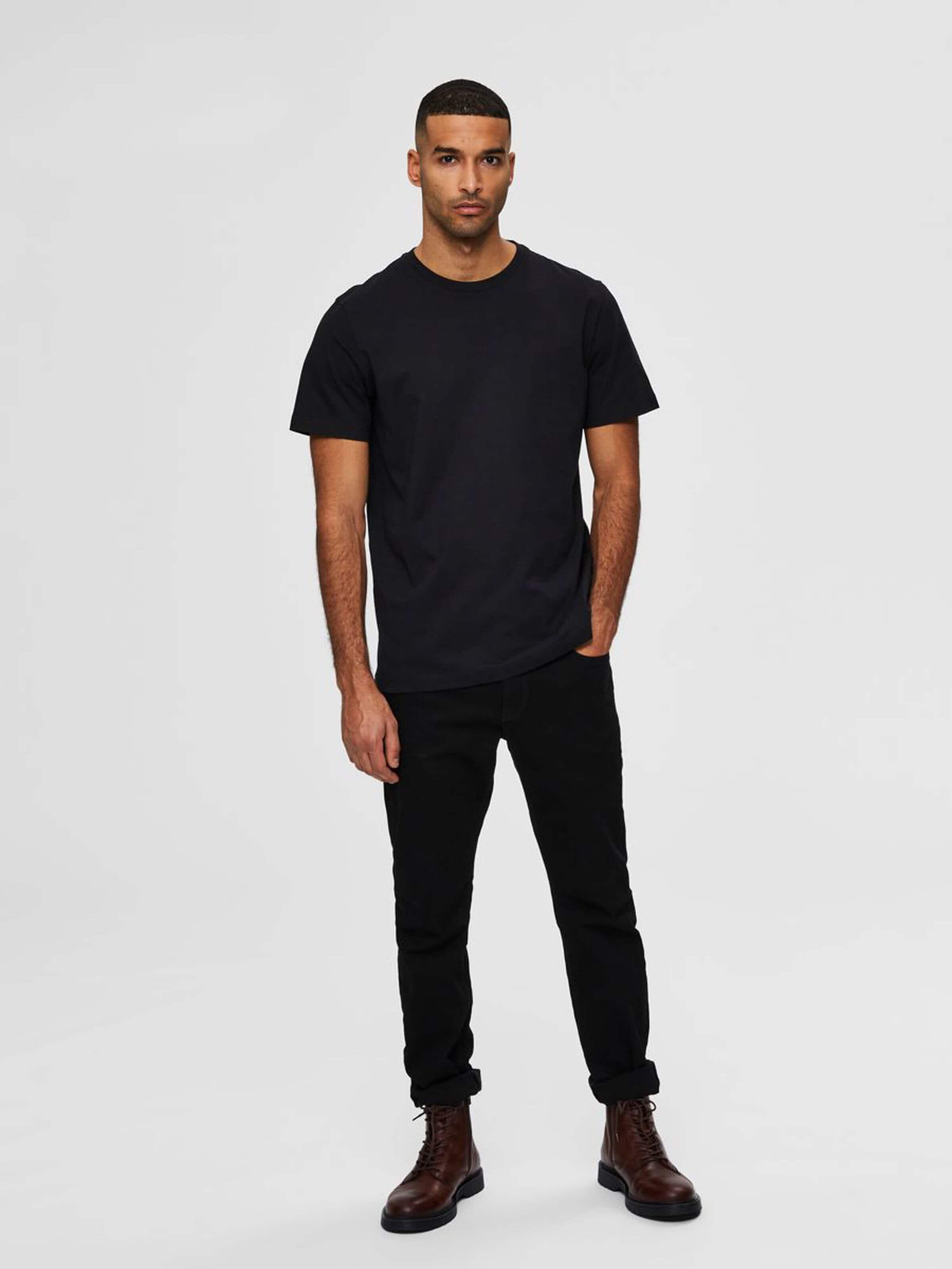 Slhnorman 180 T-Shirt - Black