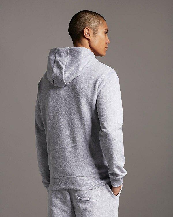 Pullover Hoodie - Light Grey Marl