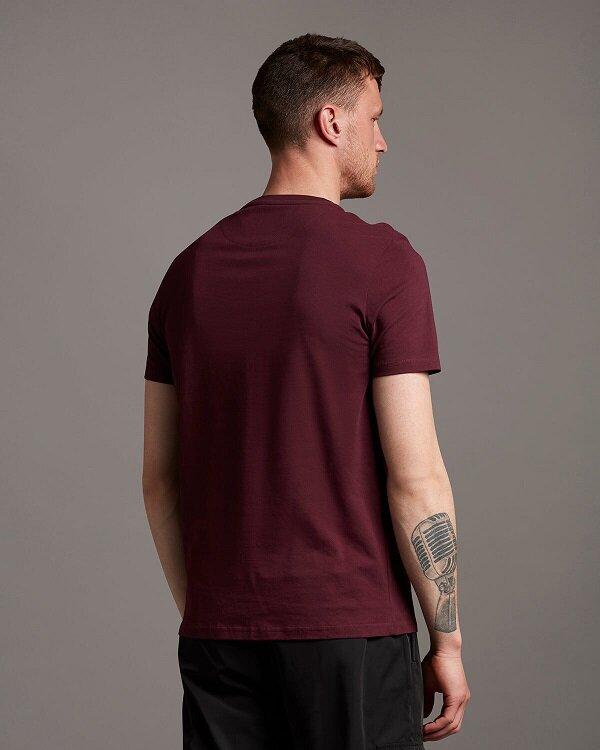 Plain T-shirt O-Neck - Burgundy