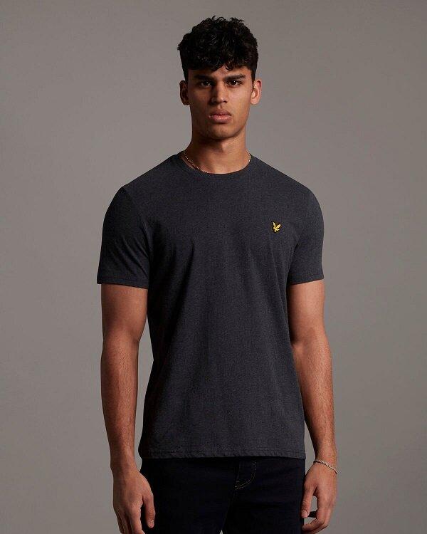 Plain T-shirt O-Neck - Charcoal Marl
