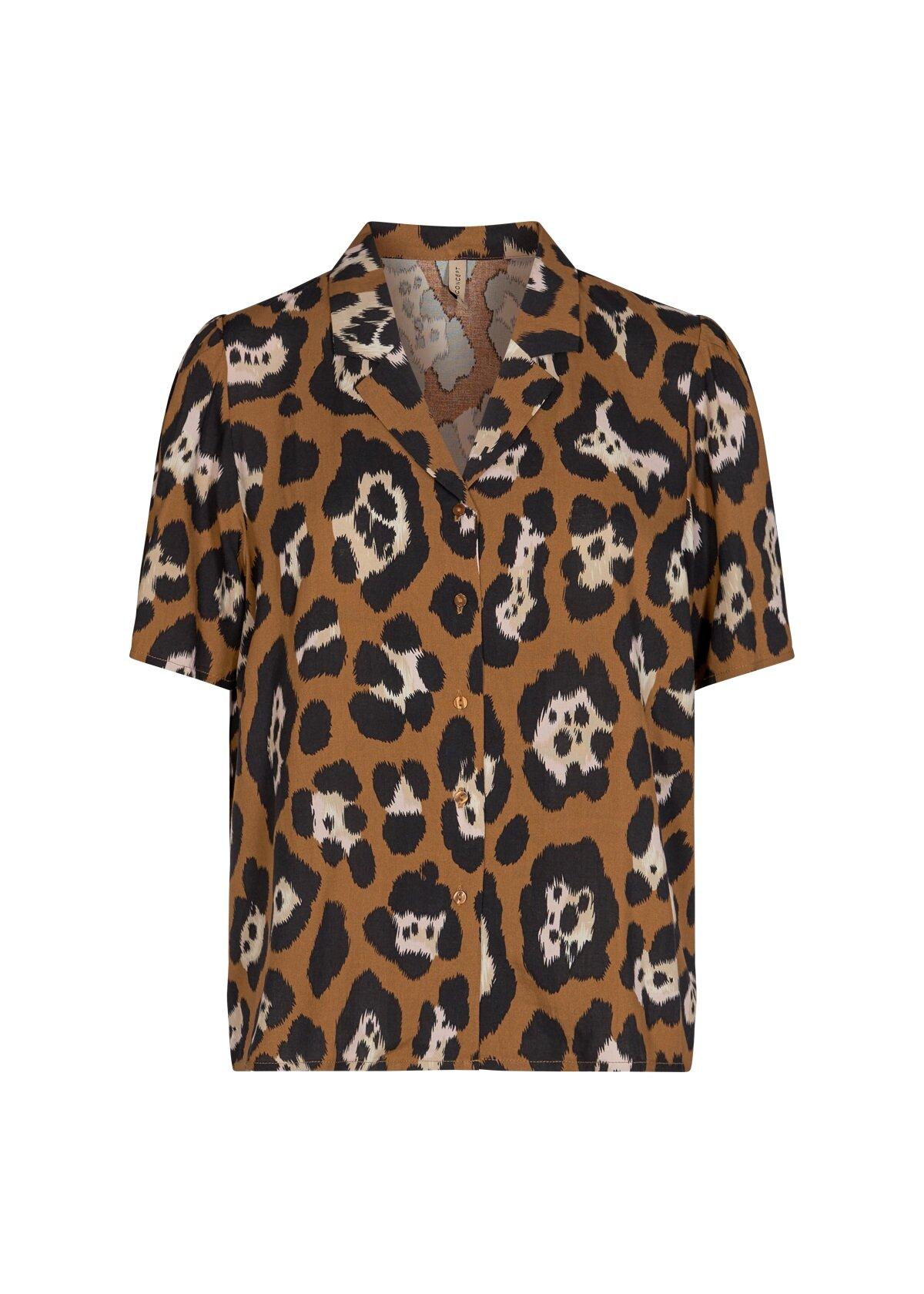 Leopardmönstrad blus - Caramel Combi