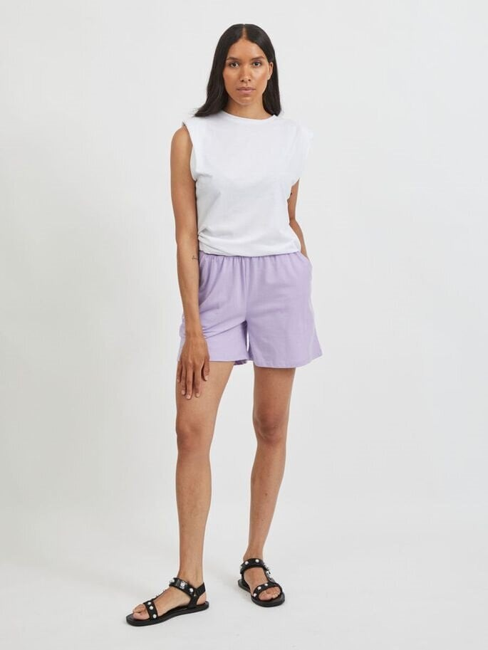 Mjuka trikåshorts - Lavender