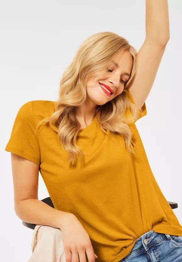 Bas T-shirt loose fit - Sulphur Yellow