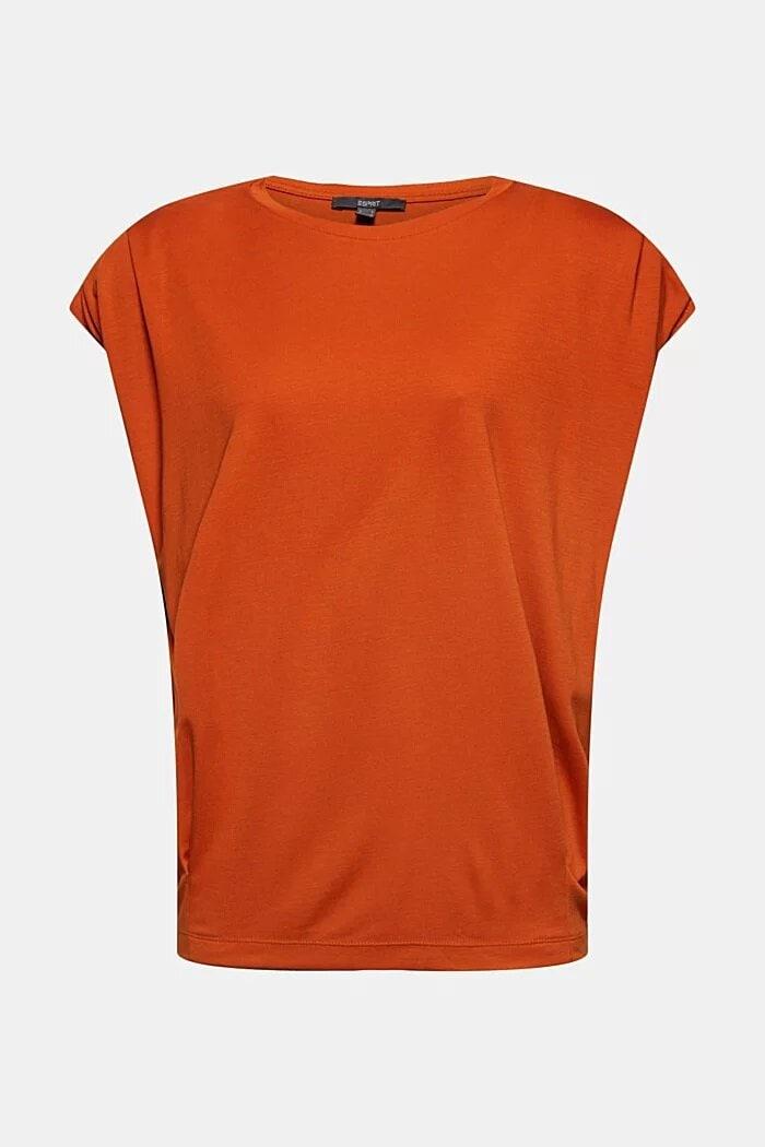 T-shirt med axelvaddar - Terracotta