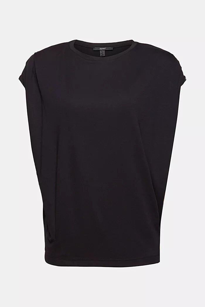 T-shirt med axelvaddar - Black