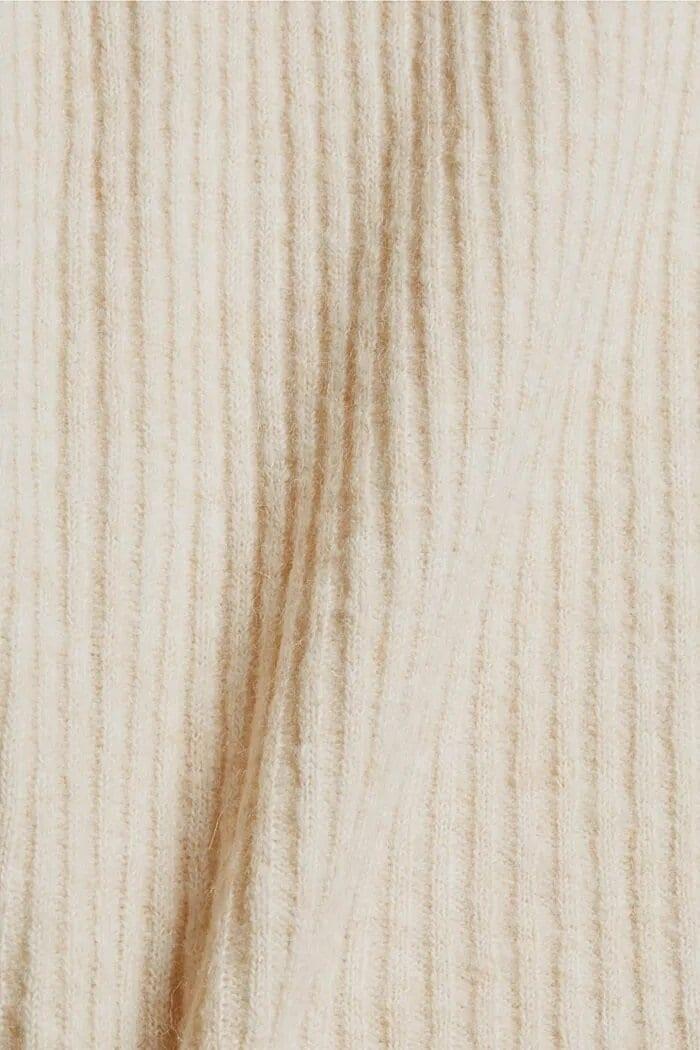 Mönsterstickad Väst - Sand