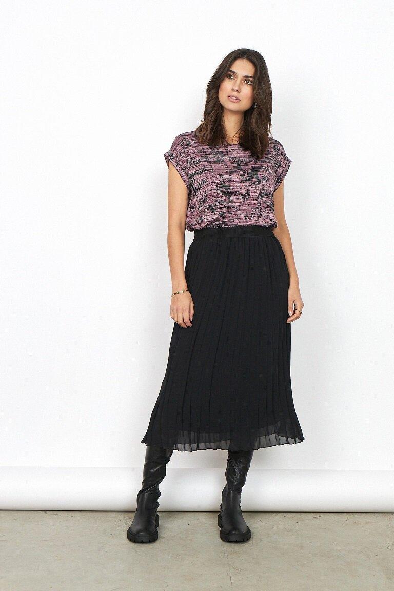Mönstrad topp - Dark Pink Rose Combi