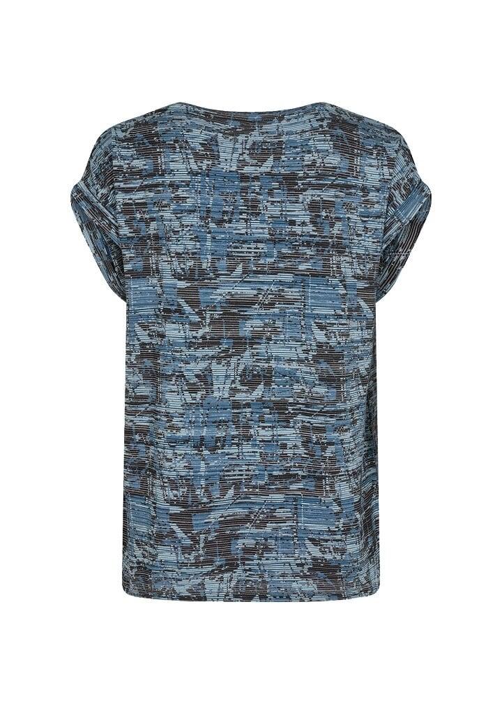 Mönstrad topp - Bright Blue Combi