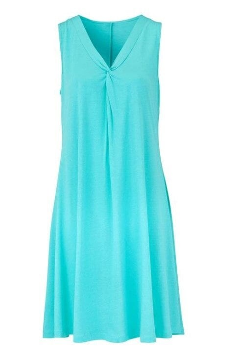 A-linjeformad Klänning - Turquoise