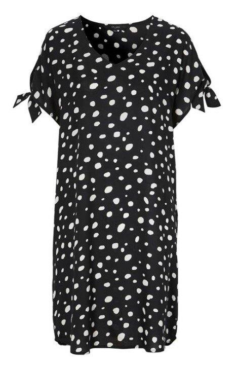 Strandklänning Prickig - Black