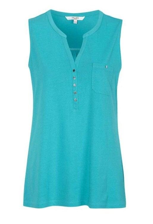 V-ringad Topp - Turquoise