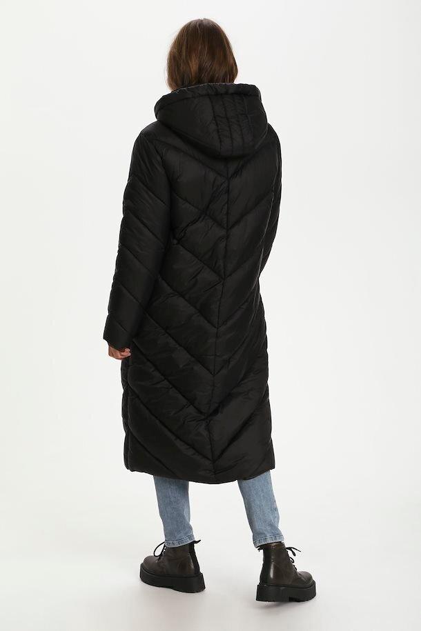Lång täckjacka - Black