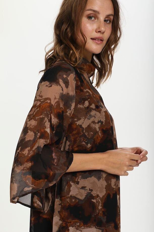 Volangklänning - Chocolate Brown Shadow Sky