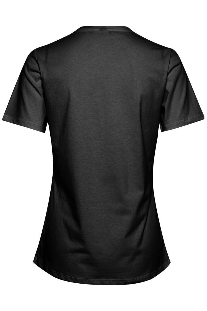 T-shirt med tryck - Black