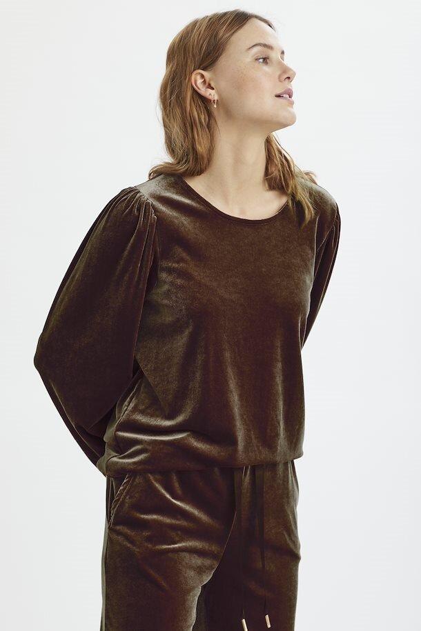 Sweatshirt sammet - Cinnamon