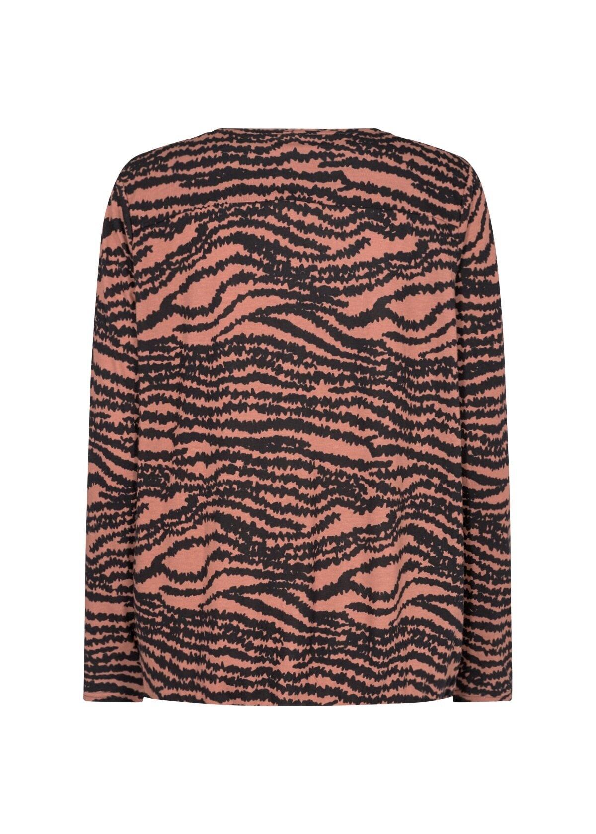 Zebra topp Felicity - Cedar Red Melange