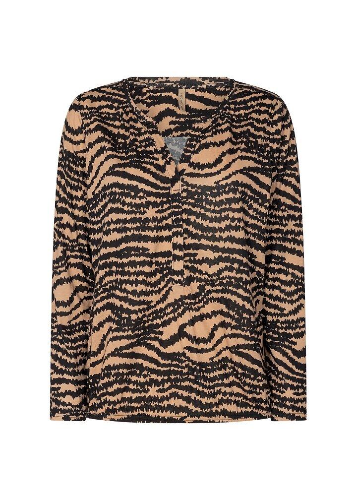 Zebra topp Felicity - Camel Combi