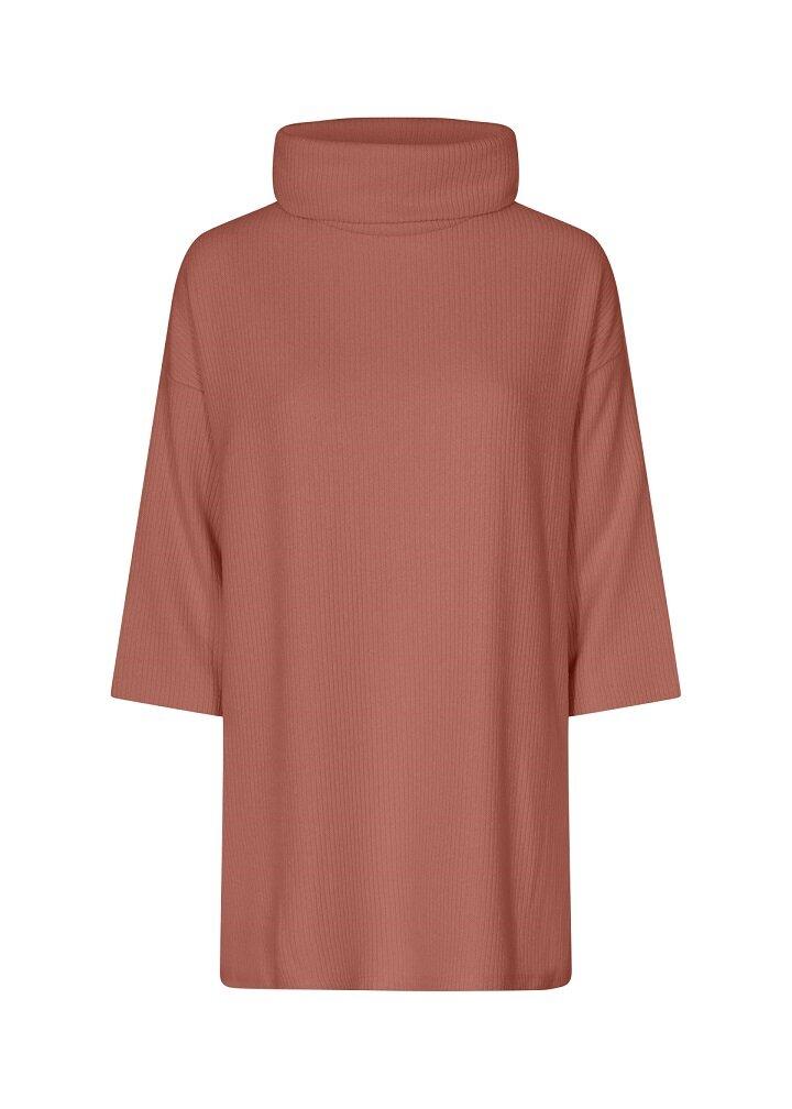 Ribbad tröja - Cedar Red Melange
