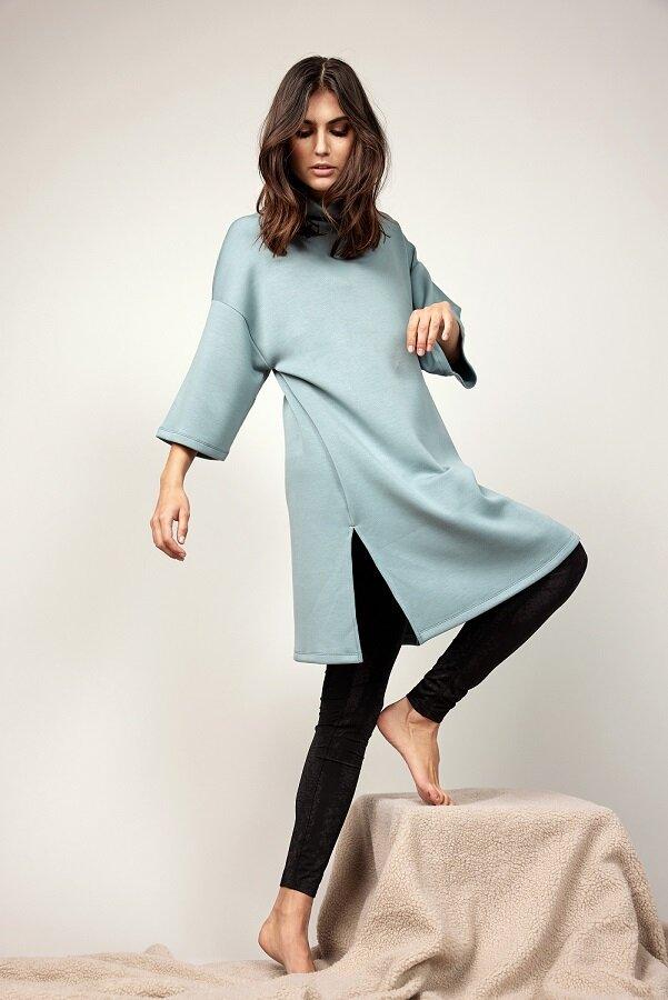 Klänning med krage - Ocean Blue