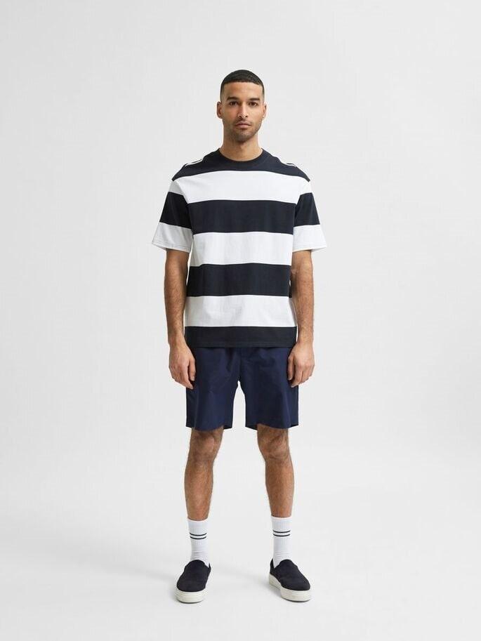 Randig T-shirt loose fit - Sky Captain