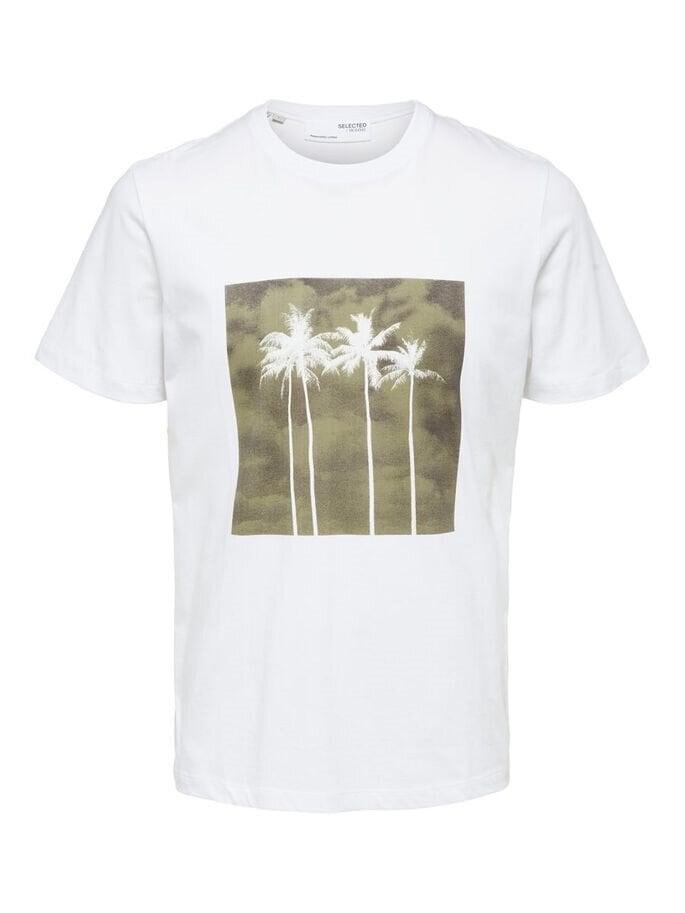 T-shirt med print - Brilliant White