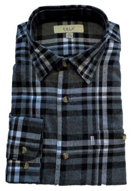 Flanellskjorta - Mörkgrå