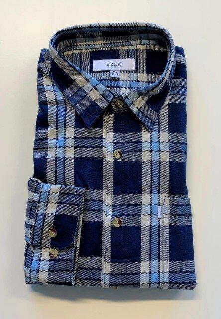 Flanellskjorta - Blå & Vit