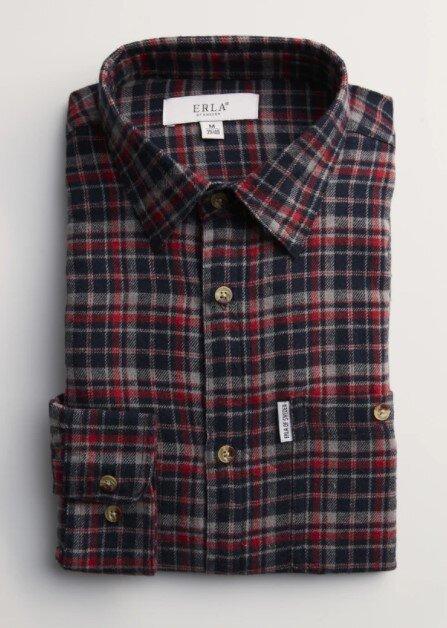 Flanellskjorta - Svart & Röd