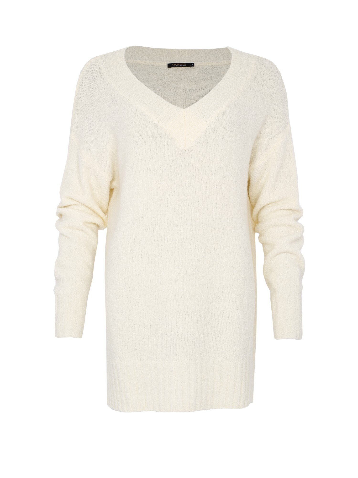 Annie V-Neck Sweater - Offwhite