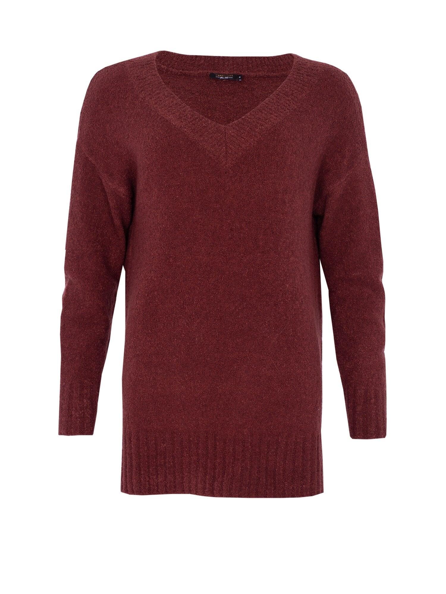 Annie V-Neck Sweater - Plum