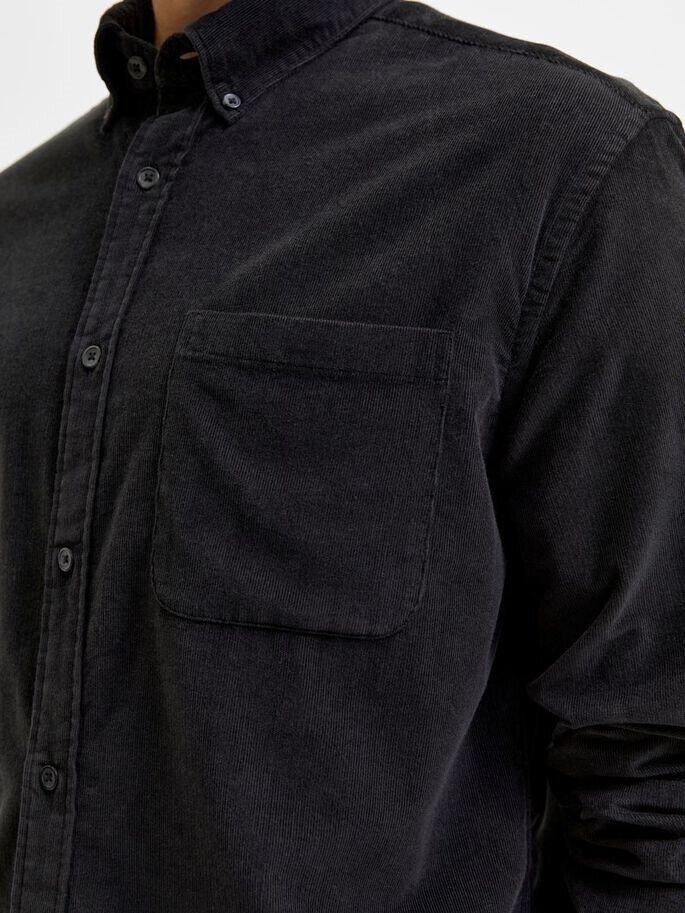 Button-down manchesterskjorta - Black