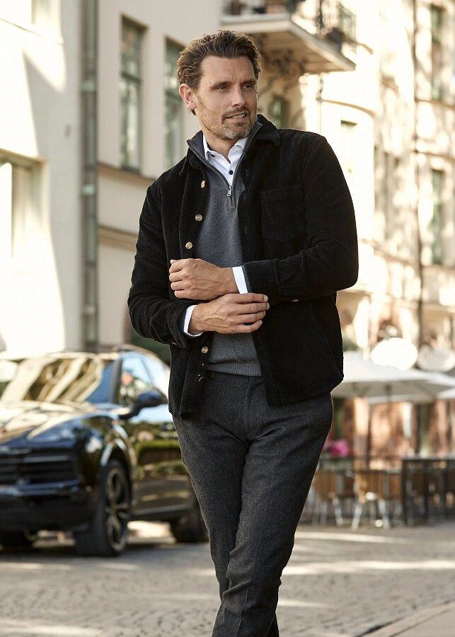 Overshirt manchester - Black